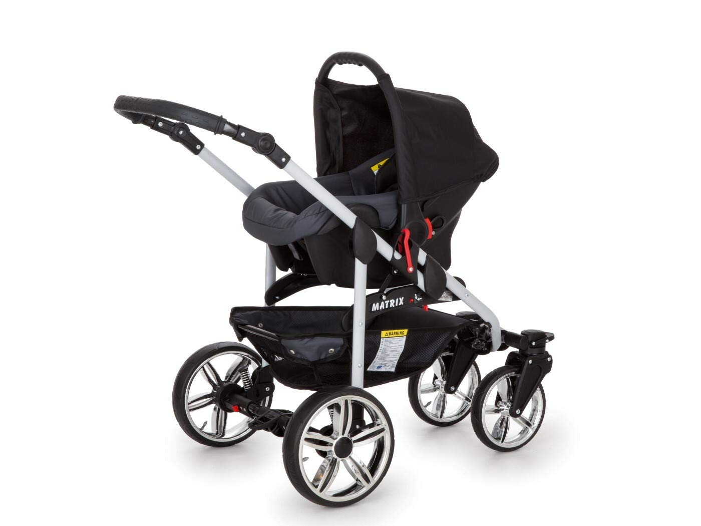 Travel System Stroller Pram Pushchair 2in1 3in1 Set Isofix X-Car by SaintBaby Black & Check 3in1 with Baby seat SaintBaby 3in1 or 2in1 Selectable. At 3in1 you will also receive the car seat (baby seat). Of course you get the baby tub (classic pram) as well as the buggy attachment (sports seat) no matter if 2in1 or 3in1. The car naturally complies with the EU safety standard EN1888. During production and before shipment, each wagon is carefully inspected so that you can be sure you have one of the best wagons. Saintbaby stands for all-in-one carefree packages, so you will also receive a diaper bag in the same colour as the car as well as rain and insect protection free of charge. With all the colours of this pram you will find the pram of your dreams. 3