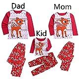 TianWlio Baby Weihnachten Pyjamas Baby Weihnachten Outfit Baby Mädchen Mama und Papa Mama Kinderbaby Mädchen Rotwild T-Shirt Hosen Familien Pyjamas Nachtwäsche Weihnachts Outfits