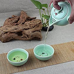 GENERIC 1 : Drinkware Coffee Tea Sets,Ceramic Teapot TeaCups Fish Porcelain,Ceramic Tea Sets,Portable Travel Tea Set,High Quality