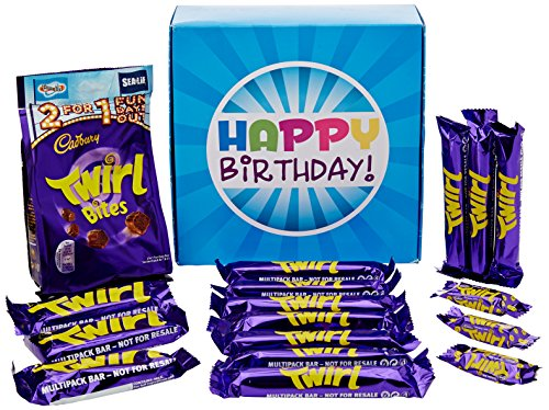 The Ultimate Cadbury Twirl Chocolate Lovers Happy Birthday Gift Box