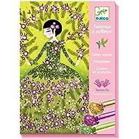 Djeco 599386031 - Cuadros con purpurina. vestidos