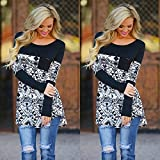 CALISTOUS Fashion Women Long Sleeve Irregular Casual Blouse Loose Tops L