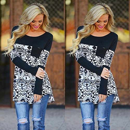 CALISTOUS Fashion Women Long Sleeve Irregular Casual Blouse Loose Tops M