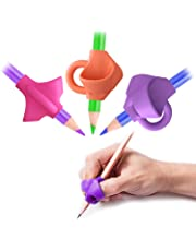 SYGA 3 Pcs Pencil Grips For Kids Handwriting, Children Pencil Holder Pen Writing Aid Grip Posture Correction Tool