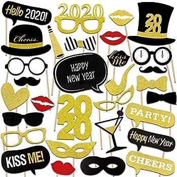 Lot de 4 assortis Cheers Happy New Year Fête Célébration Bannières Décorations