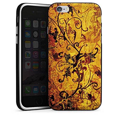 Apple iPhone 5 Housse Étui Silicone Coque Protection Ornement Fleurs Fleurs Housse en silicone noir / blanc