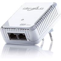 devolo dLAN 500 duo Powerline (Internet über die Steckdose, 2x LAN Ports, 1x Powerlan Adapter, PLC Netzwerkadapter) weiß