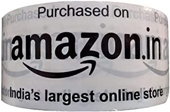 Amazon.in 100 Meter Branded Tape Heavy Duty Packaging Tape - 43 Micron, Milky White Pack of (3)