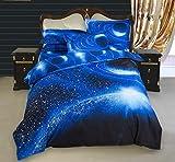 Stillshine 3D Mysteriös Universum Galaxis Bettwäsche Set Bettbezug Bettdecke hülle Bezug Kissen Farbe Wählbar (200X200CM, Planet)