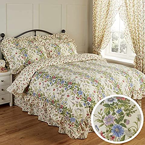 Vantona Country Jessica Floral Print Frill Bedding Duvet Cover Pillowcase