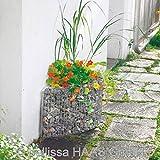 Hochbeet / Hauswandbeet Steinkorb bellissa 118x35x40cm