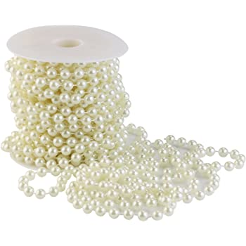 MultiWare Pearl Beads Garland Wedding Pearl Bridal Party Decor 6MM Pearl Ivory
