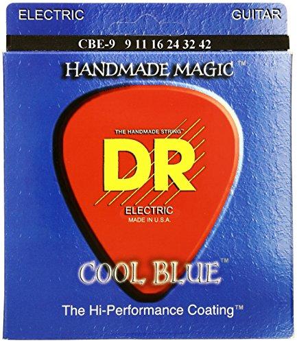 DR CBE DE 9EXTRA LIFE–COOL BLUE PARA GUITARRA ELECTRICA  009–042  Y CUERDAS AZULES