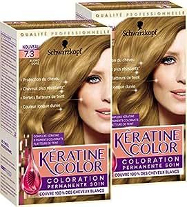 Kératine Color 7,3 Blond Doré 154,5 ml - Lot de 2