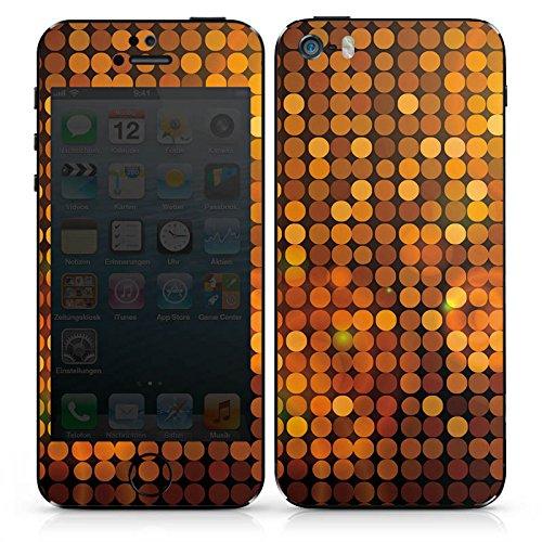Apple iPhone 5 Case Skin Sticker aus Vinyl-Folie Aufkleber Disco Pailetten Party DesignSkins® glänzend