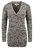 DESIRES Philemona Damen Lange Strickjacke Cardigan Grobstrick Winter Longstrickjacke mit V-Ausschnitt, Größe:XL, Farbe:Coffee Bean (5973)
