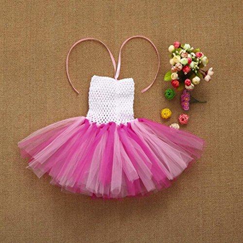 Jupe Ballet Tutu Tulle,OVERMAL Jupe Dentelle Dentelle Mini-jupe Haute Qualité Les Filles, Les Enfants En Tutu Floral Danse FêTe Chic Robe Arc - En - Ciel L