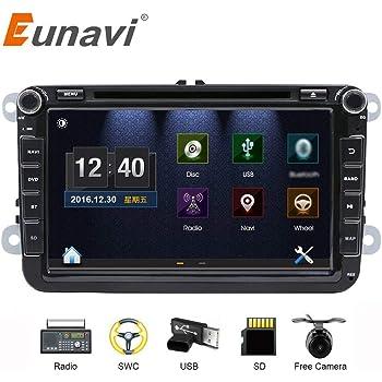 Estéreo de coche con Bluetooth, Eunavi Doble 2 Din 8 Pulgadas Car GPS de navegación