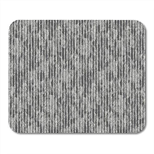 "AOHOT Mauspads Black Abstract Herringbone Pinstripe Dyed Effect Brushed Creative Dashed Mouse pad 9.5"" x 7.9\"" for Notebooks,Desktop Computers Accessories Mini Office Supplies Mouse Mats"