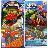 Sambro Spider-Man de Marvel y Avengers Assemble 3d lenticular de puzzle (2x Doble pack)