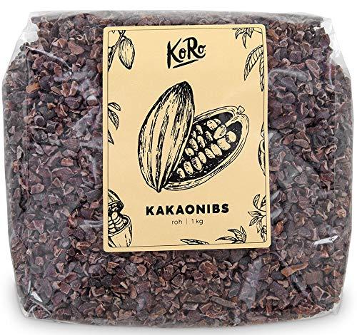 Bio Kakao Nibs | Ungeröstet Ohne Zusätze | Aus Kontrolliert Biologischem Anbau | 1 kg Packung | KoRo | Vorteilspackung