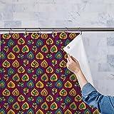 AZ Stylized Leaves Washable Waterproof Shower Curtain 54 x 84inch; SINGLE PIECE