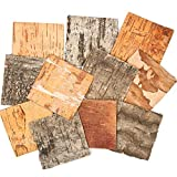 Textured Bark Squares to Add to Collage and Decorations (Pack of 10)