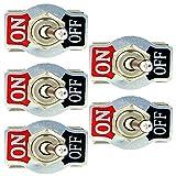 Mintice™ 5 X KFZ Auto 20A 125V 15A 250V Kippschalter Schalter Wippschalter SPST 2-Polig EIN/AUS Metall