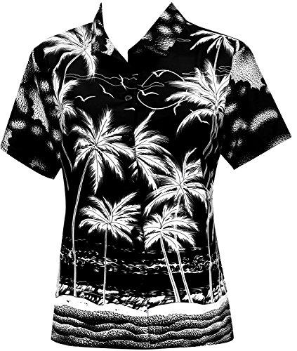 Blusas-Camisa-Hawaiana-Botn-Hacia-Arriba-Desgaste-de-La-Playa-Las-Mujeres-de-Manga-Corta-Traje-de-Bao-Negro