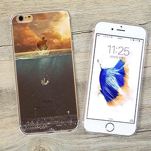 iPhone 6 6S Etui,MingKun Ultra Mince Transparente Soft TPU Silicone Clair Transparente Case iPhone 6 6S 4.7 pouces Cover pour iPhone 6 6S Clair Étui Housse Ananas Peinture Série Premium Clair Couvertu paysage-2