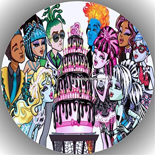 Premium Esspapier Tortenaufleger Party Geburtstag Monster High T8