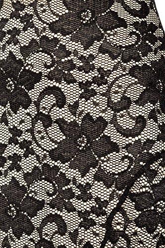 Robe de soirée en dentelle avec dos plongeant ouverture a 13673–1 - schwarz (Sw 16)