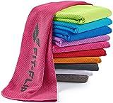 Fit-Flip Kühlendes Handtuch 100x30cm, Mikrofaser Sporthandtuch kühlend, Kühltuch, Cooling Towel, Mikrofaser Handtuch| Farbe: pink, Größe: 100x30cm