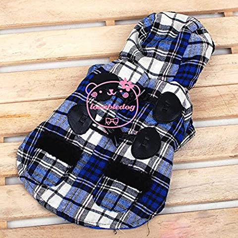 SMALLLEE_LUCKY_STORE Small Dog Duffle Winter Coat Toggle Hoodie Cat Puppy