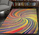 A2Z Rug Modern Colourful Contemporary Design Area Rugs Rio Collection 5676, Multi 120x170 cm - 4' x 5'6 ft