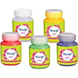 Pidilite Fevicryl Acrylic Colours Primary Shades for Metal, Glass, Fabric, Wood, Wall and Canvas Painting (Coral Red; Dark Gr