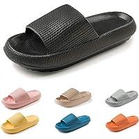 Pillow Slides Slippers Non-Slip Thick Sole Quick Dry Platform Pillow Slides Shoes, Super Soft Home Pillow Slides for…