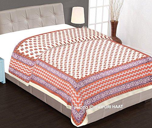Jaipuri Haat Muglai Print Cotton Double Jaipuri Razai In Diamond Shape Machine...