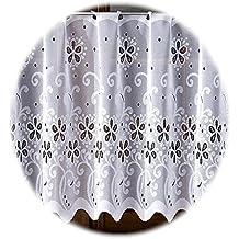 """Blanco Cortina de visillo se vende por metro. Producto de calidad, tela, Blanco, Drop 35cm (14"""")"""