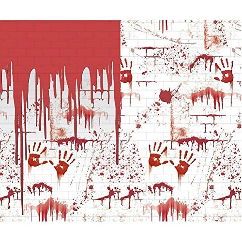 amscan Blutbefleckte Tapete für Halloween (Halloween Karneval Ideen-preis)