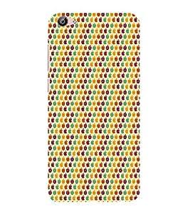ifasho Designer Phone Back Case Cover Vivo X7 ( Colorful Cat Face Tribal Pattern Design )