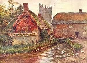 DORCHESTER. Mill Church Egdon Yeobright Eustacia - 1906 - old antique vintage print - art picture prints of Dorset
