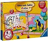 Ravensburger 27723 - Süsse Ponys - Malen nach Zahlen Junior, 30 x 24 cm (2 Motive)