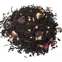 Aromas de Té - Té Negro Praliné Premium con Chocolate Fresa y Almendras Dulce Contiene Magnesio