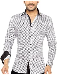 Globalrang Men's Floral Printed Casual Shirt