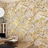 KYDJ ® Schlafzimmer Wohnzimmer Tv Hintergrund 3D Vlies Tapete American Village Tapete Luxus 10 Mt * 0,53 Mt Gold