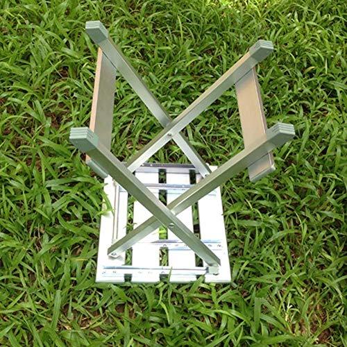 Preisvergleich Produktbild PTERS Wide Folding Tritthocker,  Silber (größe : 45 cm)