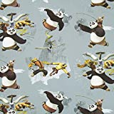 Fabulous Fabrics DreamWorks Kung Fu Panda blaugrau —