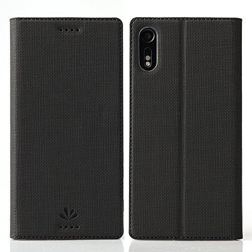 Sony Xperia XZ Hülle, Leder, klappbares Folio Flip Case