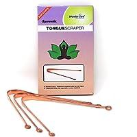 Wonder Care - Racles-langue - Gratte langue- 100% cuivre - Nettoyeur ayurvédique antibactérien pour une hygiène buccale…